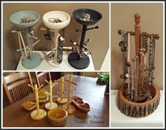 Re-Scape: BizScape by Diana from Diana's DIY Den & Treasure Showcase jewelry trees