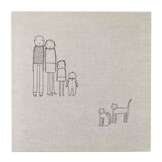 PERSONALIZED FAMILY ART   Custom Artwork, Modern Portraiture, Embroidery   UncommonGoods
