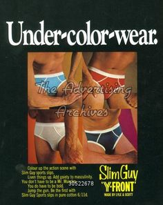 60s underwear (it says 60s so even though it looks 70s)