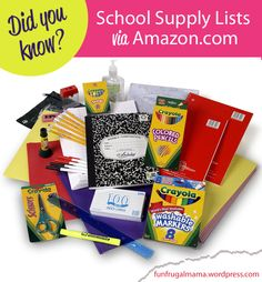 Amazon.com is wonderful for many reasons, but my new favorite part is their school supply link. You literally type in your zip code and (if your school is listed) click the link. It shows all that ...