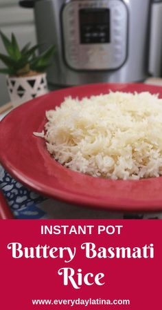 Instant Pot Buttery Basmati Rice uses only a few basic ingredients to create a delicious, fast, and perfectly cooked rice every time. Stovetop Pressure Cooker, Instant Pot Pressure Cooker, Pressure Cooker Recipes, Pressure Cooking, Slow Cooker, Basmati Rice Recipes, Cooking Basmati Rice, Buttery Rice, Rice On The Stove
