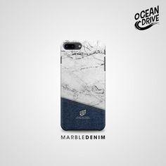 Marble Denim Pattern Print Custom Case.