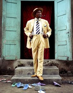 """The Congolese Sape...Sape is French slang for """"dressing with class"""". Photo - Hector Mediavilla"""