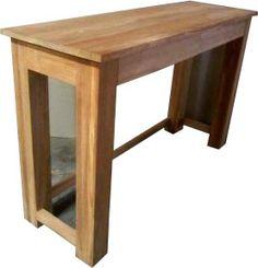 Teak sidetable console bijzettafel bureau 120 cm Abcoude 2 laden