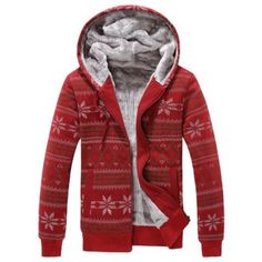 SHARE & Get it FREE | Zip Up Snowflake Print Flocking HoodieFor Fashion Lovers only:80,000+ Items·FREE SHIPPING Join Dresslily: Get YOUR $50 NOW!