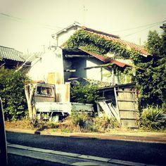 #廃墟 #空き家 #無人 #蔦 - @phototohp- #webstagram Abandoned, Cabin, House Styles, Left Out, Cabins, Cottage, Wooden Houses, Ruin
