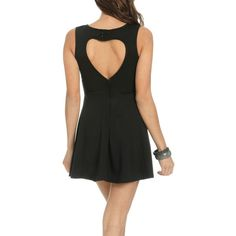 Heart Back Skater Dress ($27) ❤ liked on Polyvore