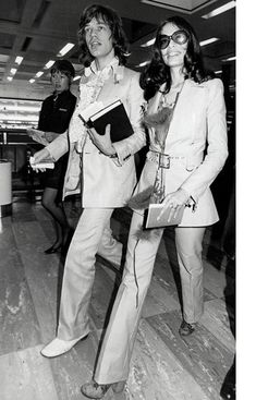 Mick and Bianca Jagger by debbie
