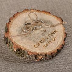 Ring Pillow  #4lovepolkadots#wood#forestwedding#ringpillow