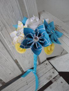 Small Paper Flower Bouquet  Kusudama Origami Roses by PoshStudios, $35.00