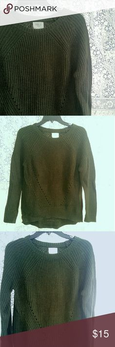 Forest Green Sweater Only worn once!  Beautiful forest/deep olive green. Scoop neck. Sweaters Crew & Scoop Necks
