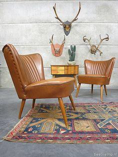 Vintage clubfauteuils cocktail chairs camel www.bestwelhip.nl