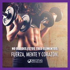 ¡Es lo único que necesitas para llegar a tu meta, no desmayes! #Fitness