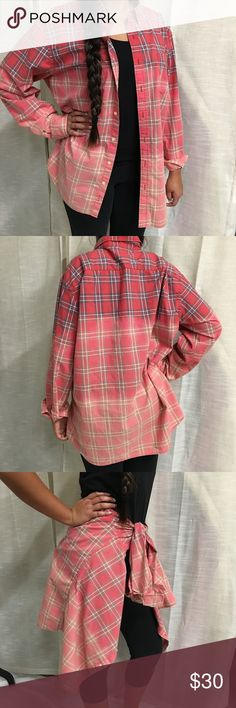 Plaid dip dye cotton shirt Plaid dip dye shirt. Shades of red, white & gray. Very soft & comfortable. 100% cotton. Washes great. (I have one)  Nice layering piece. New without tags. NEVER WORN. Great for fall. 🍃🍁🍂 Sonoma Tops Button Down Shirts