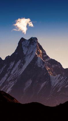 Dawn, sky, himalaya, mountains, peak, 720x1280 wallpaper