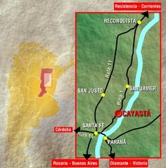 Lugar de la primera fundación de Santa Fe - Cayastá ....