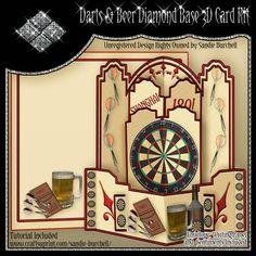 Darts & Beer Diamond Base 3D Card Kit