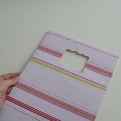 tutorial - make recycled bags. Nice as gift wrapping!
