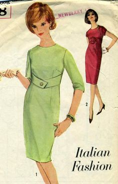 Vintage 60s Simplicity 5178 Junior Italian Fashion by RomasMaison, $12.00