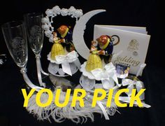 Beauty and the Beast Belle Disney Theme Wedding by YourCakeTopper