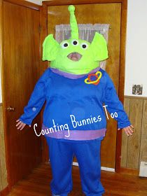 CountingBunniesToo: Time To Think Halloween (Week 8) Alien From Toy Story Movie