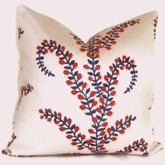 John Robshaw for Duralee Red White Blue Meandering by PopOColor