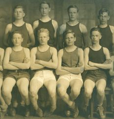 Sewickley Academy's basketball squad in 1927.