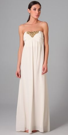 this would be a great beach wedding dress...by shoshanna and available on shopbop.com