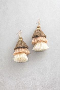 Santeria Sway Tassel Earrings | Neutrals $15
