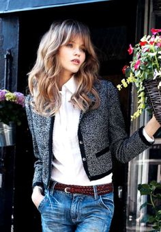 love the jacket with the jeans casual and sophisticated