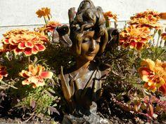 Antique French Art Nouveau Statue. Vintage  by AngelFrenchAntiques