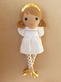 Reserved for Demetra Fabric Doll Rag Doll Light by rovingovine