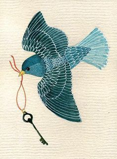Blue bird illustration print patterns Ideas for 2019 Decoupage, Bird Theme, Guache, Bird Crafts, Bird Illustration, Bird Drawings, Watercolor Bird, Art Graphique, Bird Art