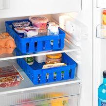 2 paniers pour réfrigérateur, bleu
