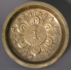 Plate Date: ca. 1480 Geography: Made in Lower Rhine, Germany Culture: German or South Netherlandish Medium: Brass Dimensions: diam. 16 7/8 × 2 15/16 in., 4.6 lb. (diam. 42.9 × 7.5 cm, 2083g)