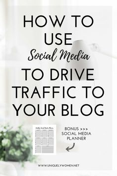You can't just write a post and hope people will miraculously find it. Trust me, it doesn't happen that way! You need to be promoting your posts on social media – that's where your audience hangs out.  In this blog post I teach you some tactics on how to use social media to drive traffic to your blog!