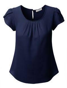 Resultado de imagem para camisas femininas manga curta de seda