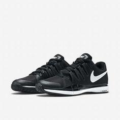 Nike Zoom Vapor 9.5 Tour Mens Tennis Shoes 8.5 Black White 631458 011