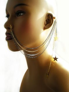 nose to ear chain jewelry | http://www.facebook.com/pages/AfriqueLaChic/82885852253