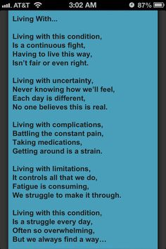I love this, and want to share it with all my spiritual sisters that I am discovering thru pinterest that we are dealing with the same monster! Fibro affects so many of us. Stay strong, hang in there!!