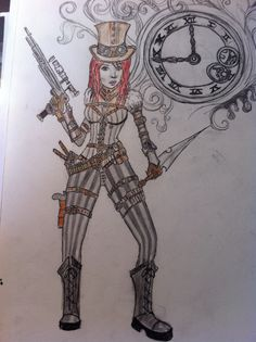 Ladie steampunk !!! Just made it myself !!