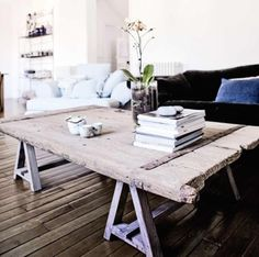 Love, love, love this quirky coffee table from House and Home