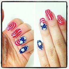 Makeup Withdrawal 4th of July or Memorial Day #nail #nails #nailart