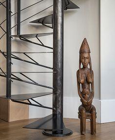 Industrial Irons, Staircase Design, Dream Garage, Metal Furniture, Stairways, Decoration, Architecture Design, Spiral Stair, Life Styles