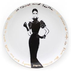 Couture Show Plate - she wore Chanel - Megan Hess