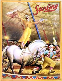 1926 - Vintage Sterling Circus Poster- Ringling Brothers competition.  It only stayed in operation a few years.