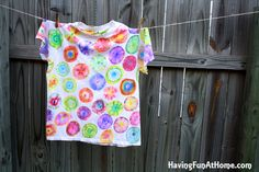 sharpie tie dye shirt! Note to Self: Sew into a non-tee shape first
