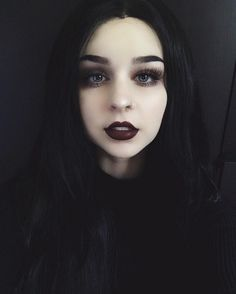 look sooo gorgeous babe FoxFell Sans in this black hair She straightens the wavy. - my most beautiful makeup list Gothic Makeup, Dark Makeup, Eye Makeup, Kids Makeup, Zombie Makeup, Makeup Inspo, Makeup Inspiration, Makeup Tips, Grunge Makeup