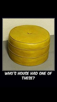 Who'shouse had one of tbese growing up?  ...my grandma's and aunts each had these in their homes ...a bright tangerine orange one, a avacado green one and an aqua/turquoise one.