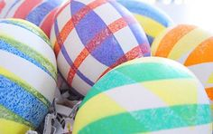 Electrical tape-dyed Easter eggs by Indie Fixx